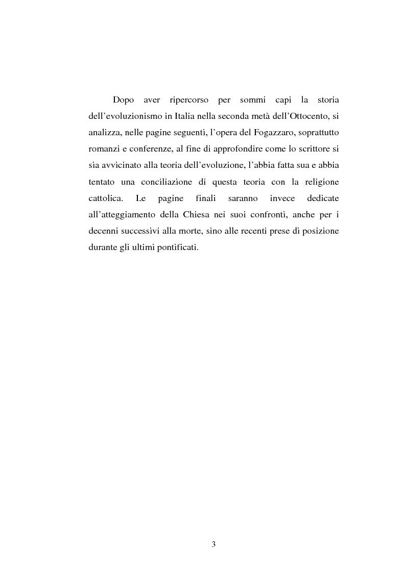 Anteprima della tesi: Ogni plebe m'insulta e rossa e nera - Fogazzaro, la sua arte, la scienza, la Chiesa, Pagina 4