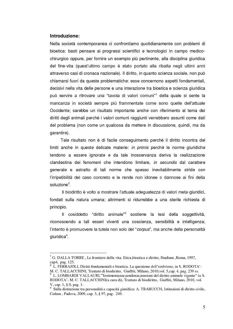 Anteprima della tesi: Il diritto animale. Principi e contraddizioni del sistema., Pagina 2