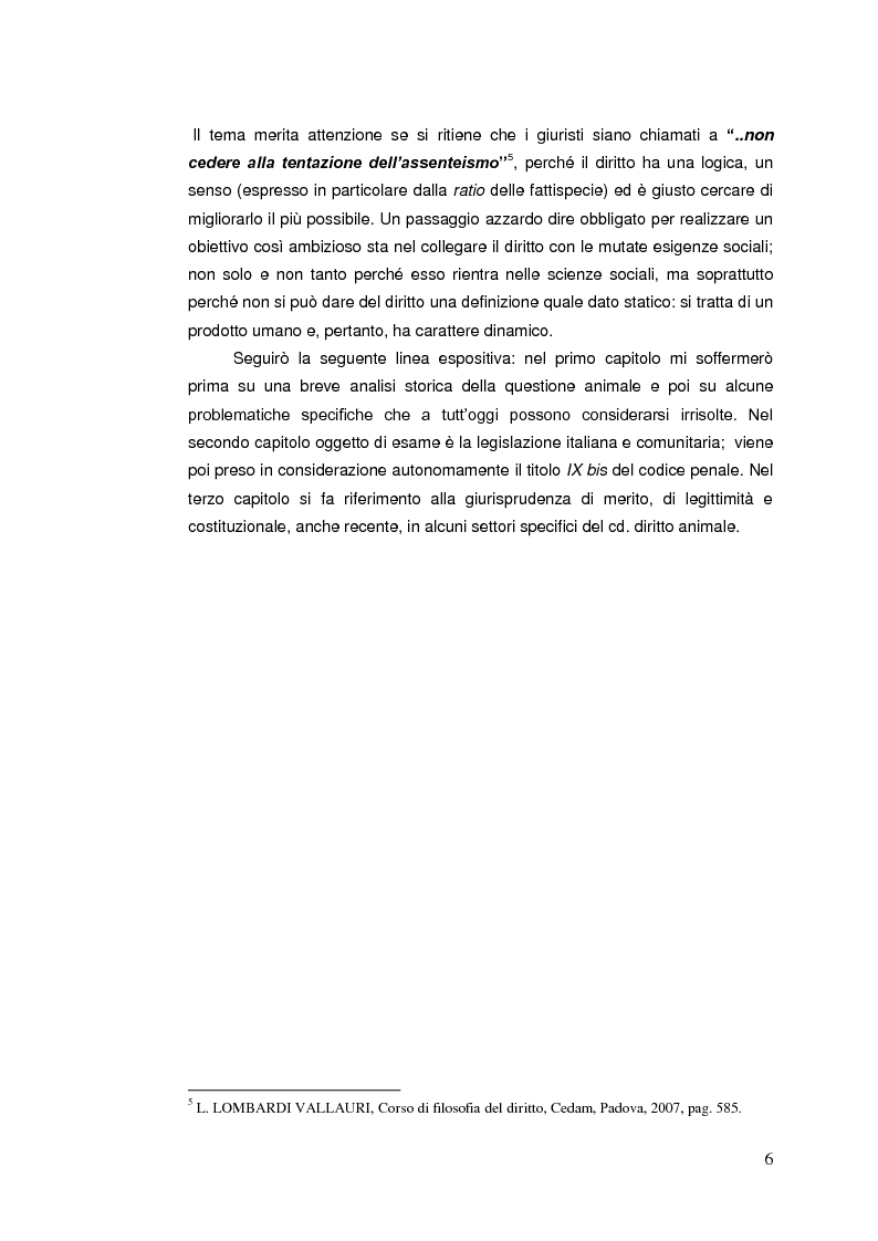 Anteprima della tesi: Il diritto animale. Principi e contraddizioni del sistema., Pagina 3