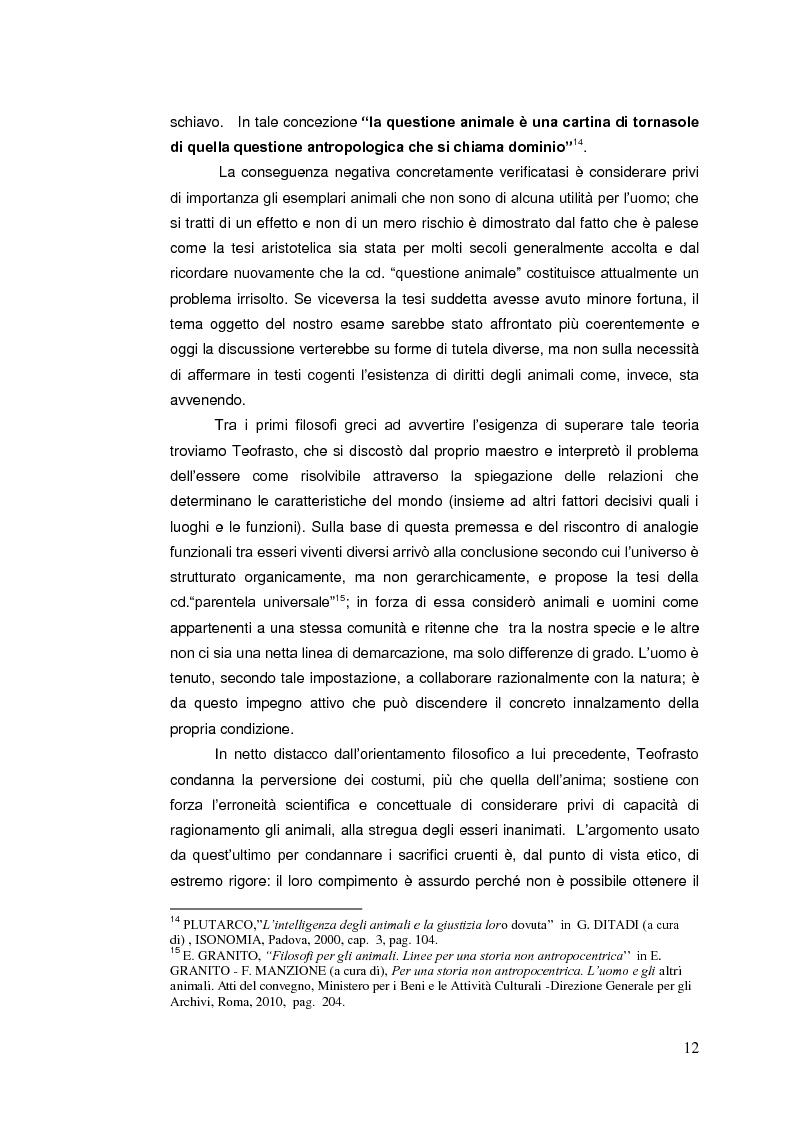 Anteprima della tesi: Il diritto animale. Principi e contraddizioni del sistema., Pagina 9