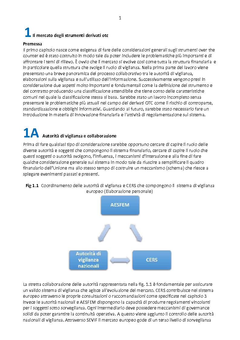 Anteprima della tesi: Derivati OTC: i nuovi scenari normativi, Pagina 2