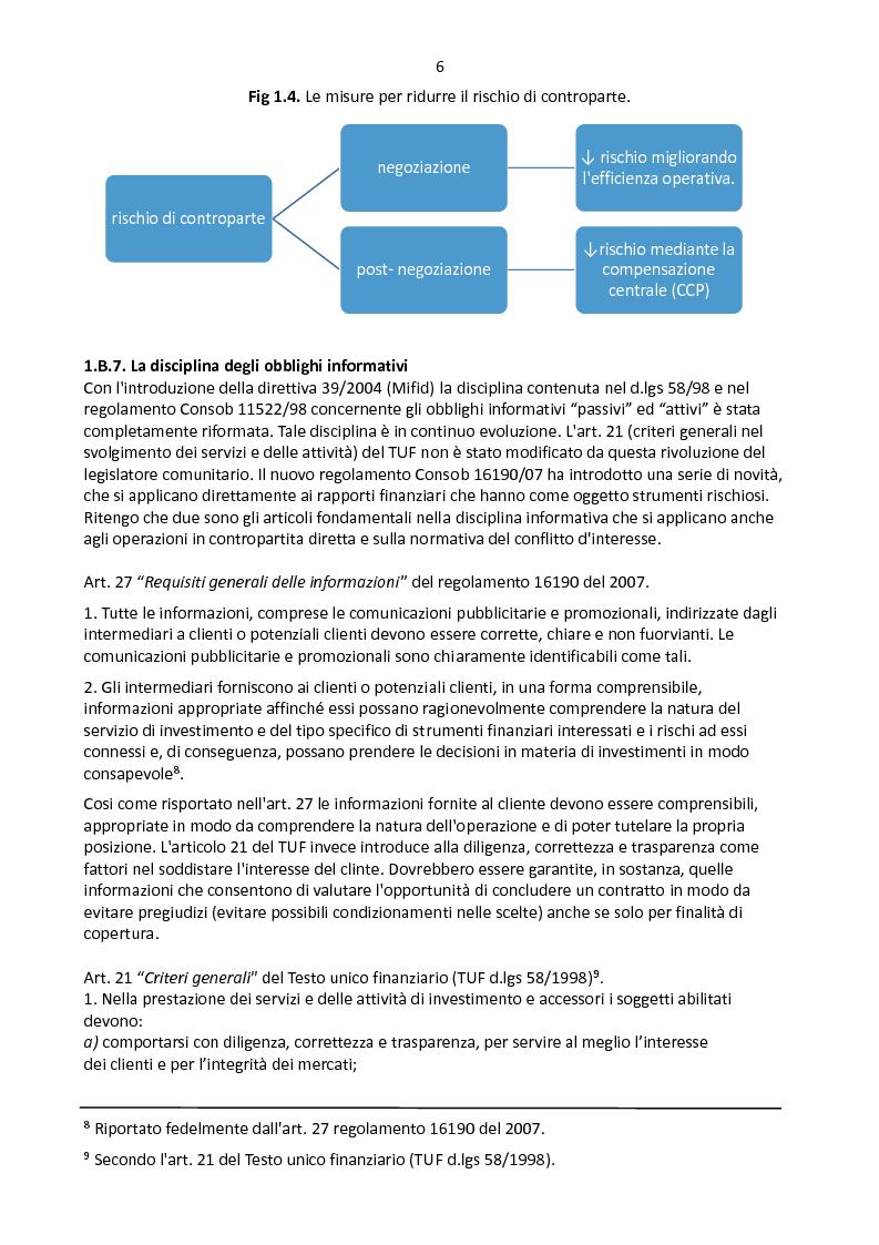Anteprima della tesi: Derivati OTC: i nuovi scenari normativi, Pagina 7
