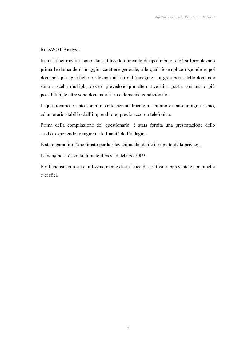 Anteprima della tesi: Agriturismo nella Provincia di Terni - Legislazione e trend, Pagina 3