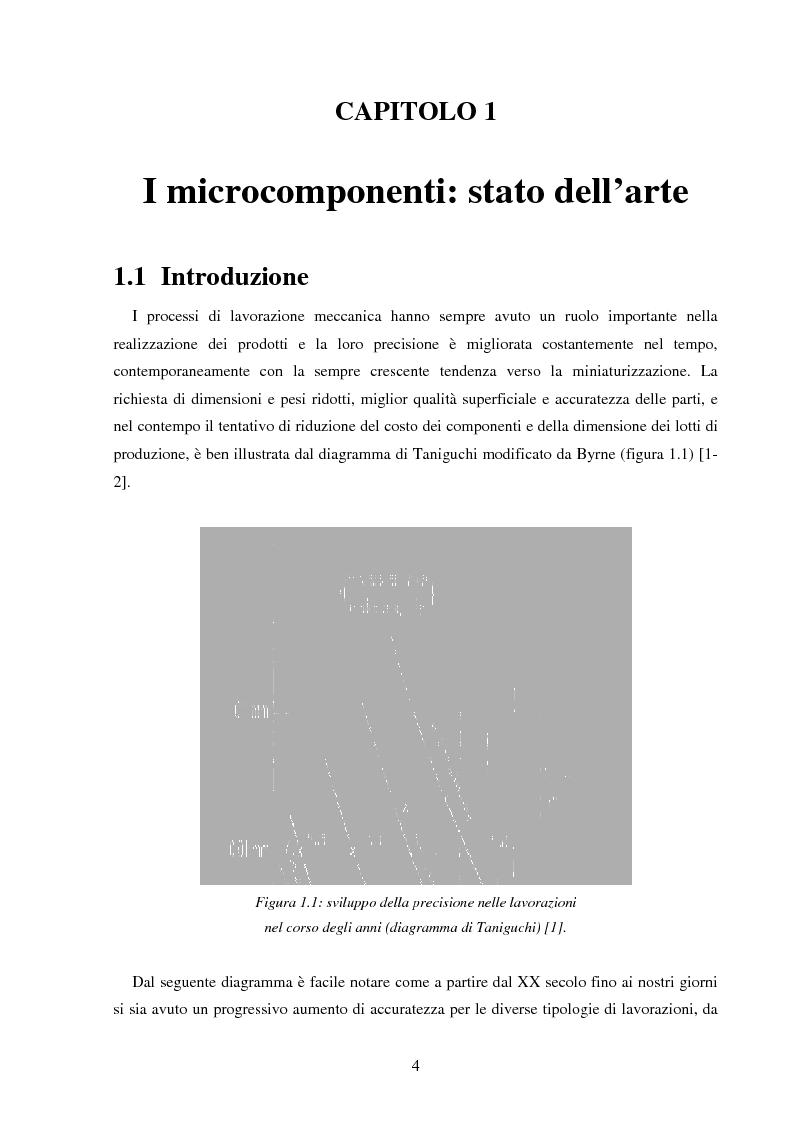 Anteprima della tesi: Metodologie di caratterizzazione e qualificazione dimensionale e superficiale di microcomponenti., Pagina 5