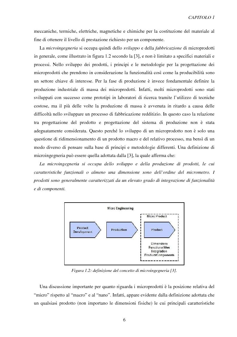 Anteprima della tesi: Metodologie di caratterizzazione e qualificazione dimensionale e superficiale di microcomponenti., Pagina 7