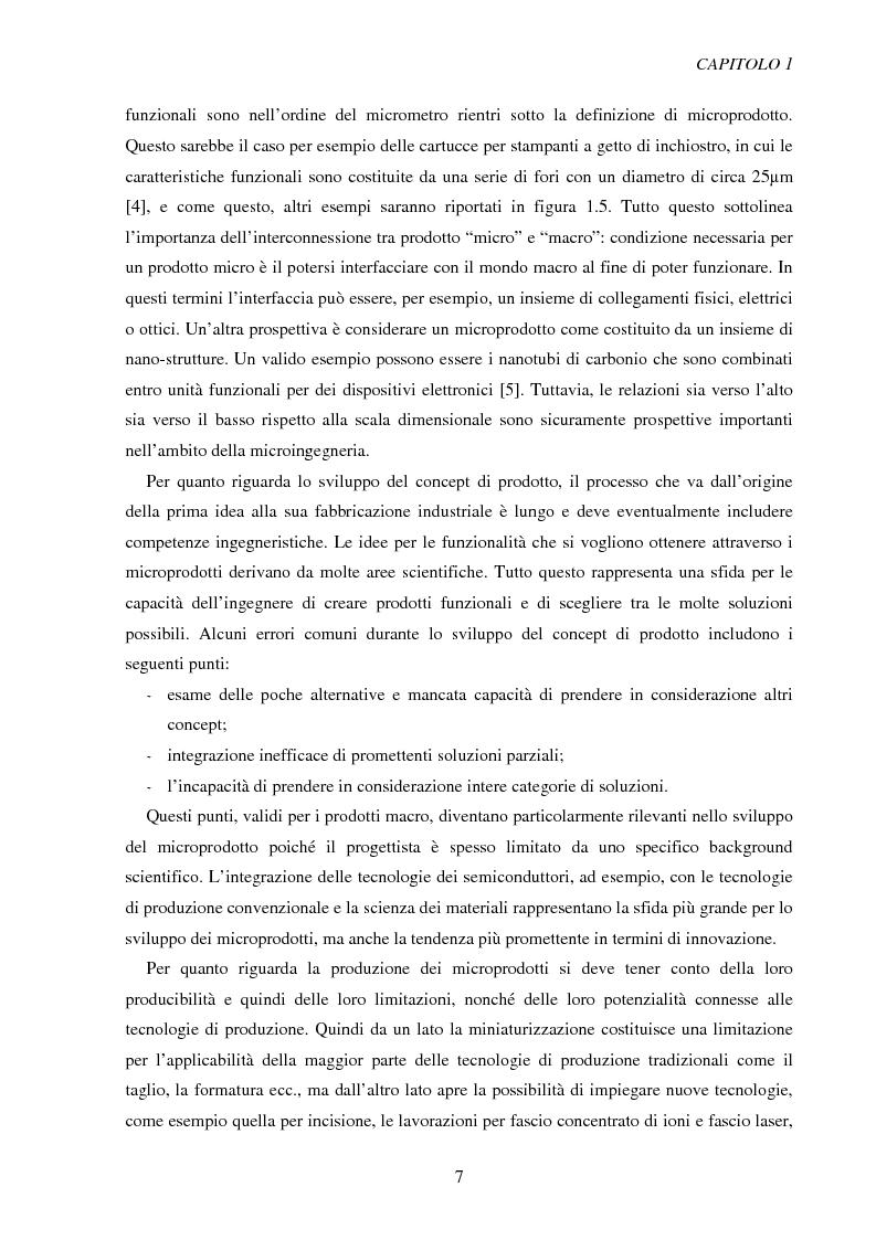 Anteprima della tesi: Metodologie di caratterizzazione e qualificazione dimensionale e superficiale di microcomponenti., Pagina 8