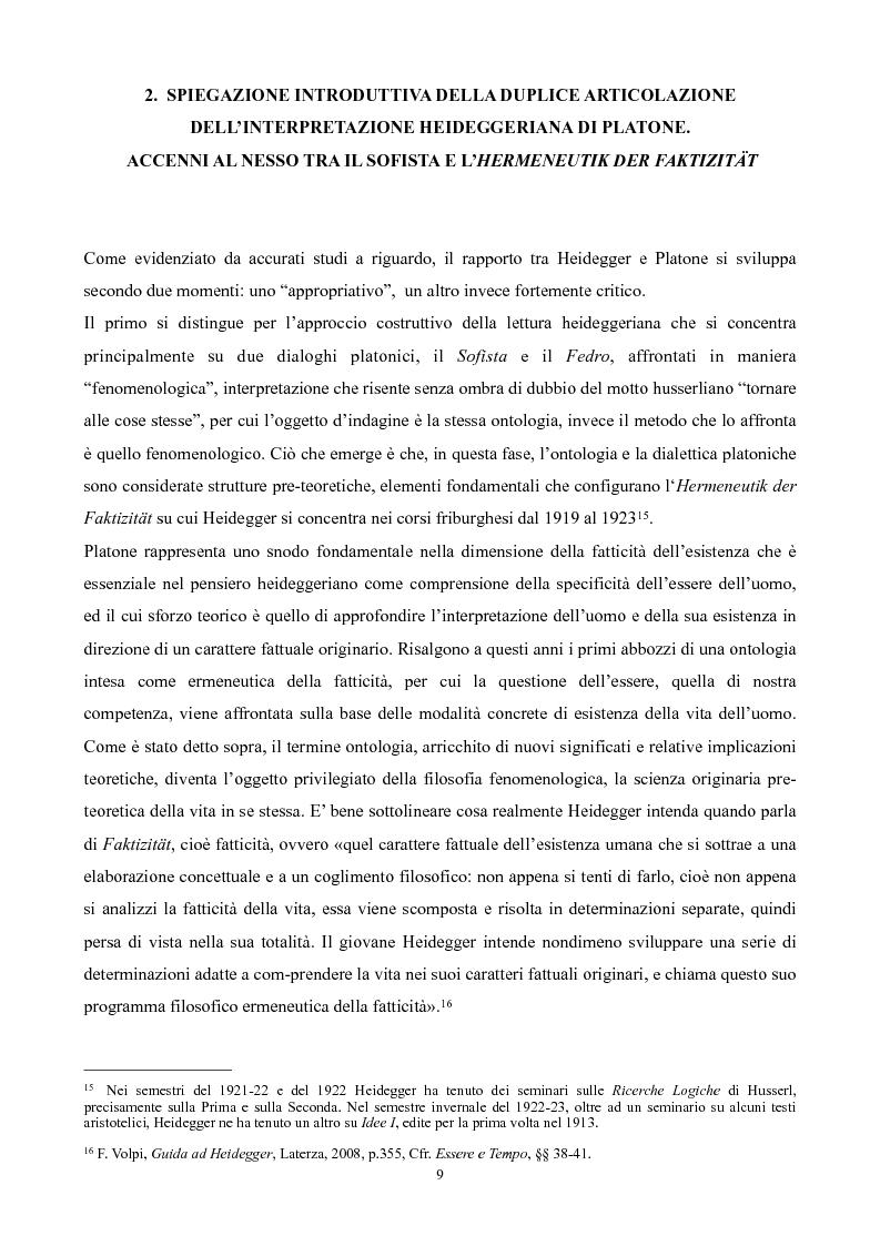 Anteprima della tesi: Il non-detto di Heidegger , Pagina 10