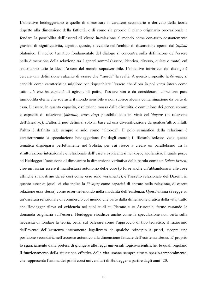 Anteprima della tesi: Il non-detto di Heidegger , Pagina 11