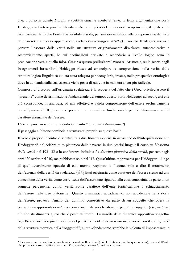 Anteprima della tesi: Il non-detto di Heidegger , Pagina 4