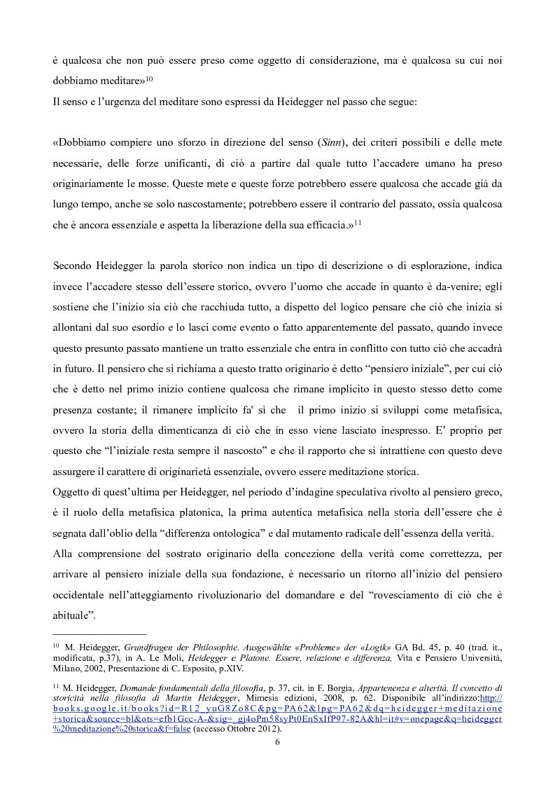 Anteprima della tesi: Il non-detto di Heidegger , Pagina 7
