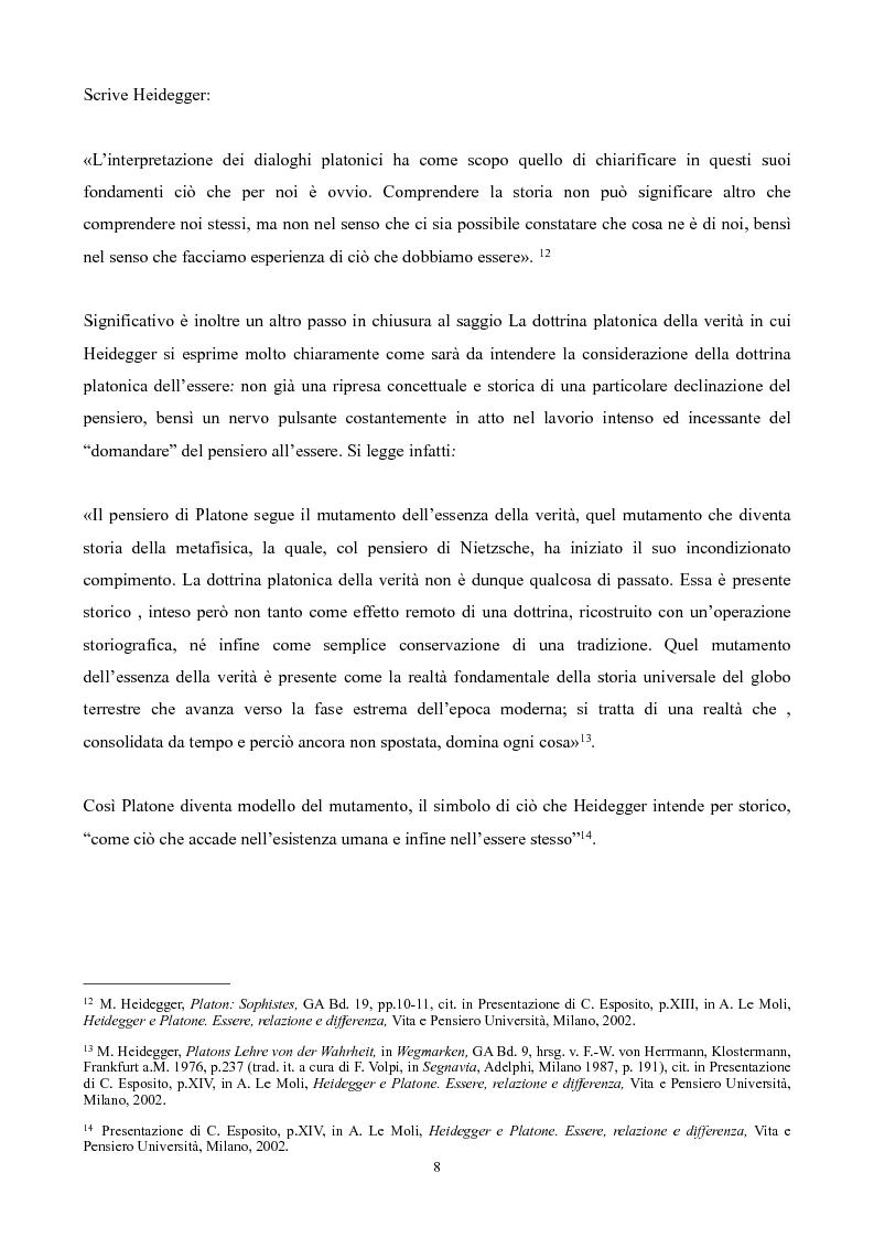 Anteprima della tesi: Il non-detto di Heidegger , Pagina 9