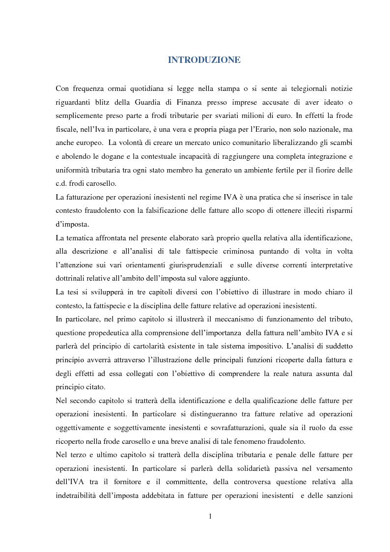 Anteprima della tesi: La Fatturazione per operazioni inesistenti nell'IVA, Pagina 2