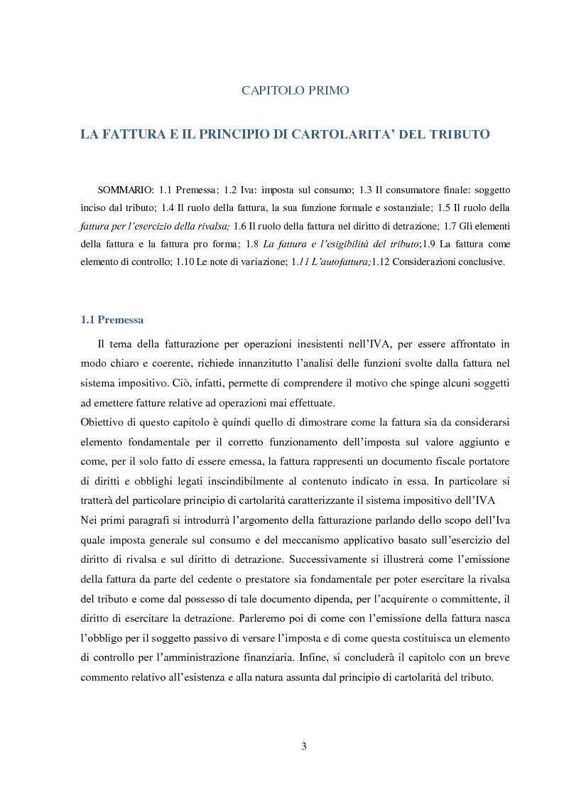 Anteprima della tesi: La Fatturazione per operazioni inesistenti nell'IVA, Pagina 4