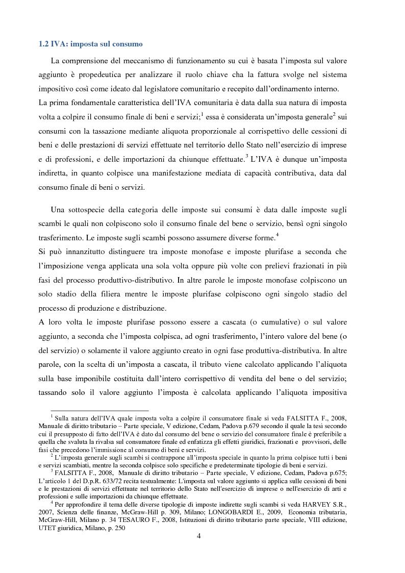 Anteprima della tesi: La Fatturazione per operazioni inesistenti nell'IVA, Pagina 5