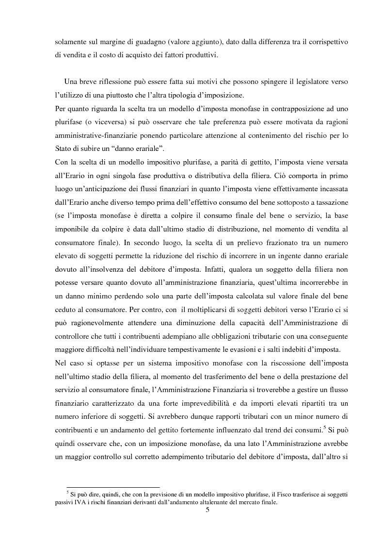 Anteprima della tesi: La Fatturazione per operazioni inesistenti nell'IVA, Pagina 6
