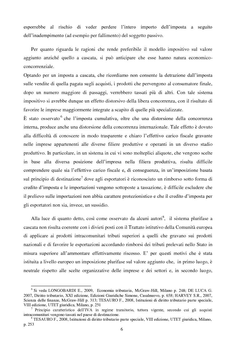 Anteprima della tesi: La Fatturazione per operazioni inesistenti nell'IVA, Pagina 7