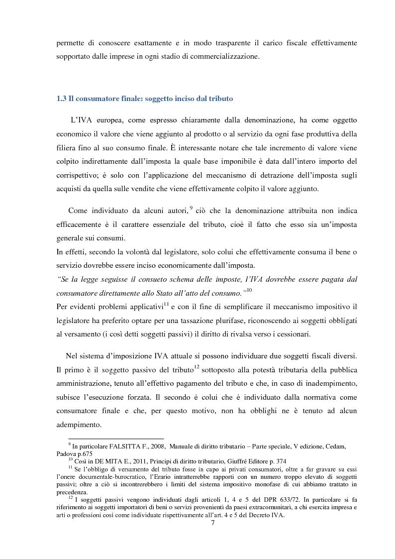 Anteprima della tesi: La Fatturazione per operazioni inesistenti nell'IVA, Pagina 8