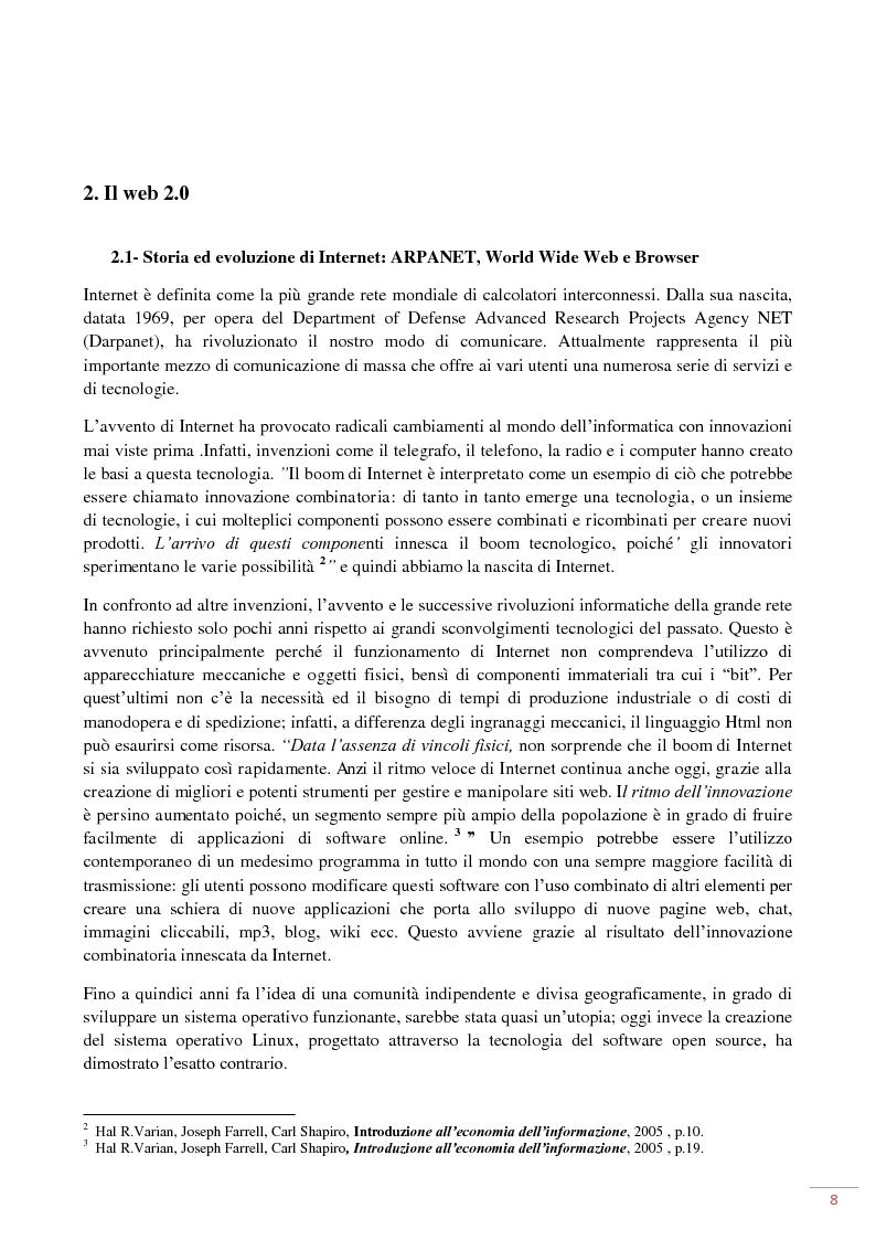 Anteprima della tesi: L'evoluzione del web 2.0: applicazioni ed usi per il marketing on-line, Pagina 4