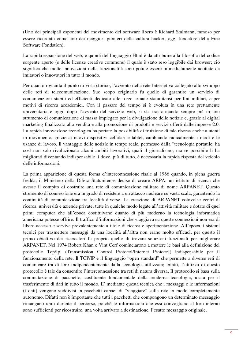Anteprima della tesi: L'evoluzione del web 2.0: applicazioni ed usi per il marketing on-line, Pagina 5