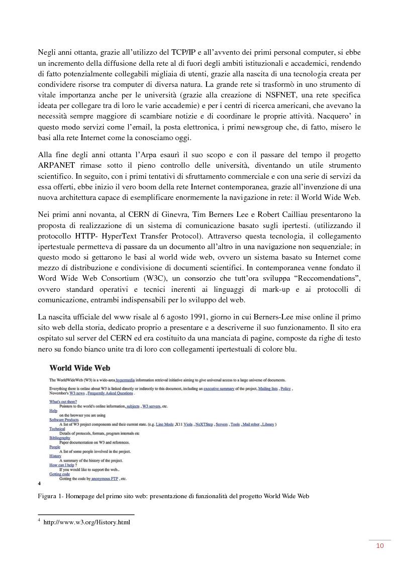 Anteprima della tesi: L'evoluzione del web 2.0: applicazioni ed usi per il marketing on-line, Pagina 6