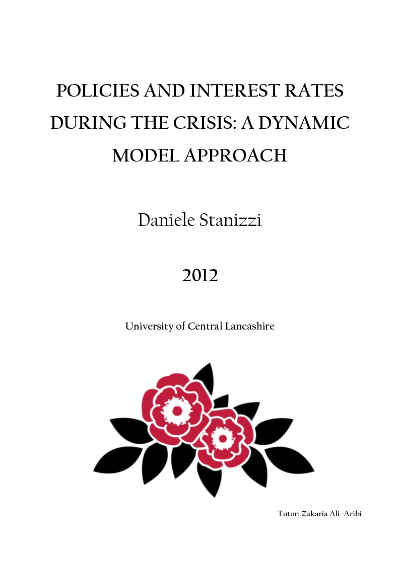 Anteprima della tesi: Policies and Interest Rates During the Crisis: A Dynamic Approach, Pagina 1