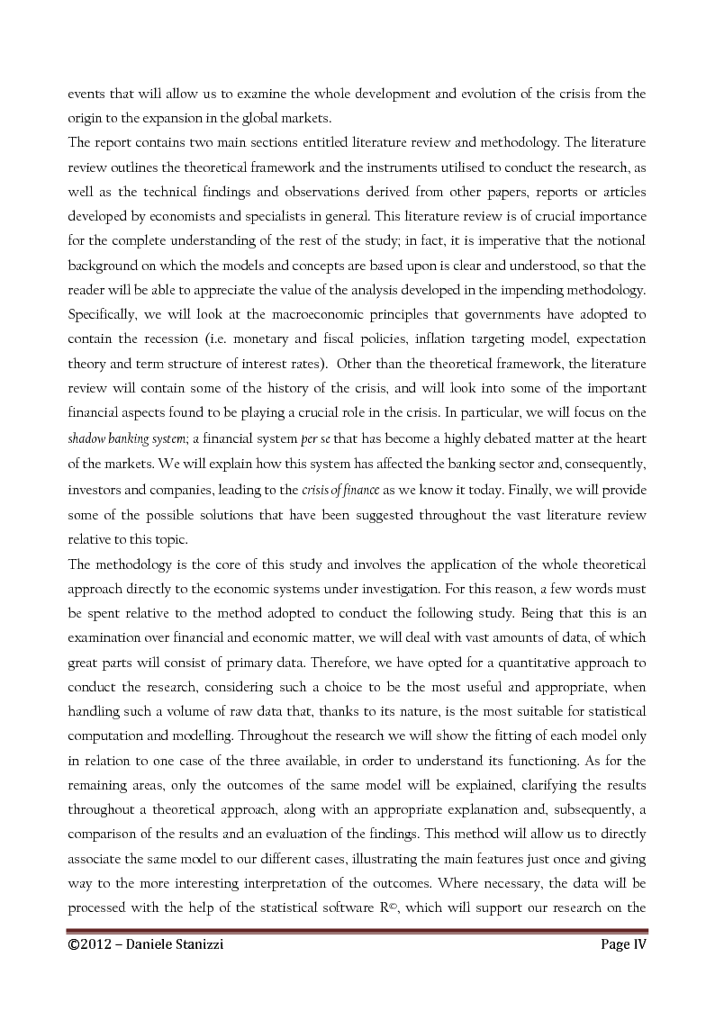 Anteprima della tesi: Policies and Interest Rates During the Crisis: A Dynamic Approach, Pagina 3