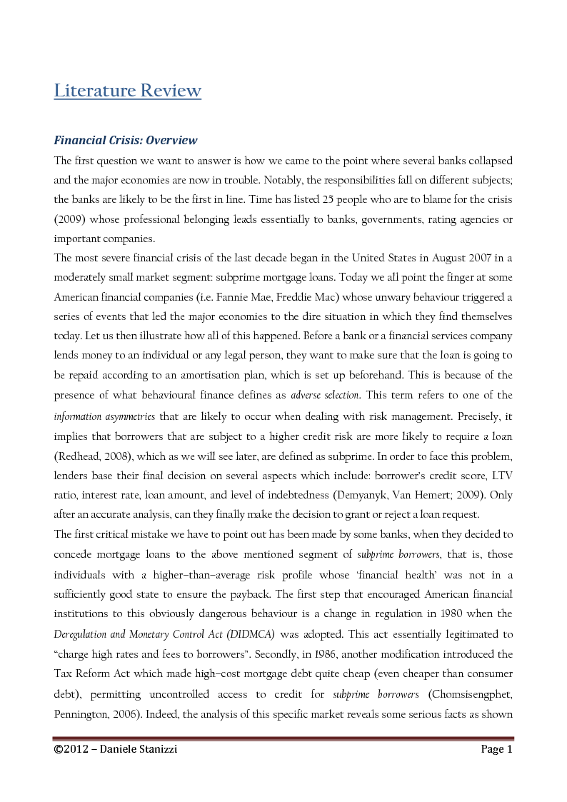 Anteprima della tesi: Policies and Interest Rates During the Crisis: A Dynamic Approach, Pagina 5
