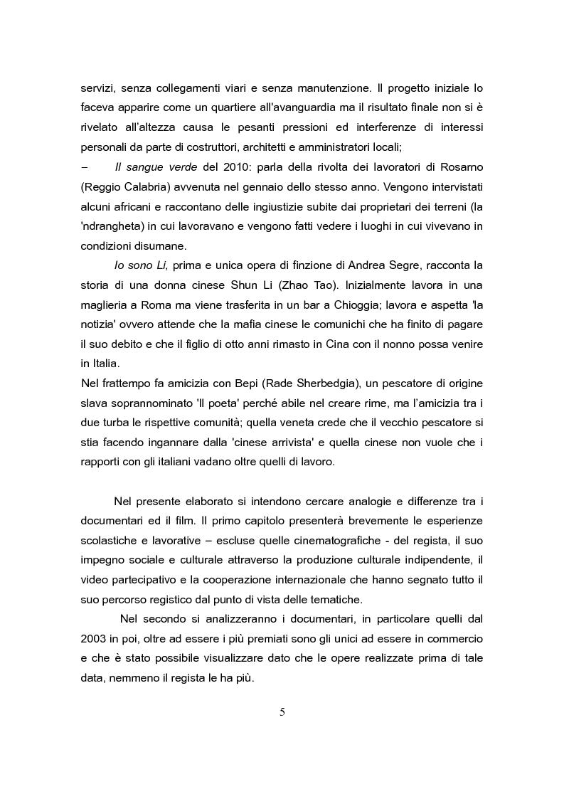 Anteprima della tesi: Andrea Segre, dal documentario al cinema di finzione: analogie e differenze, Pagina 4