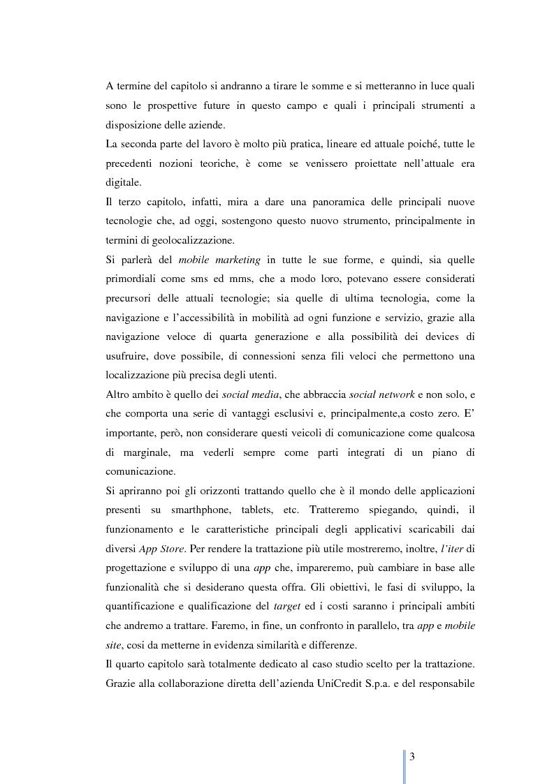 Anteprima della tesi: Le nuove frontiere del marketing: geomarketing e geolocalizzazione al servizio delle aziende. Il caso UniCredit S.p.a., Pagina 4
