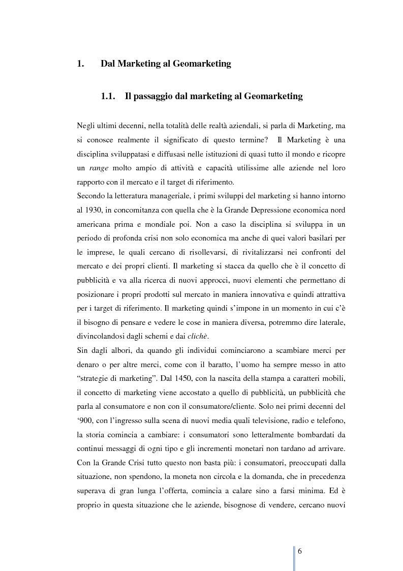 Anteprima della tesi: Le nuove frontiere del marketing: geomarketing e geolocalizzazione al servizio delle aziende. Il caso UniCredit S.p.a., Pagina 7