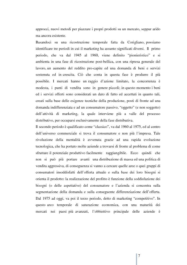 Anteprima della tesi: Le nuove frontiere del marketing: geomarketing e geolocalizzazione al servizio delle aziende. Il caso UniCredit S.p.a., Pagina 8