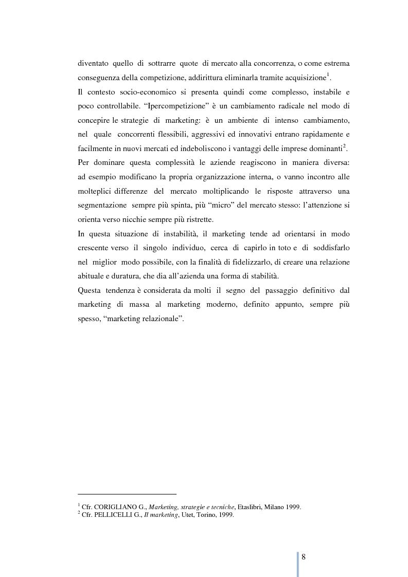 Anteprima della tesi: Le nuove frontiere del marketing: geomarketing e geolocalizzazione al servizio delle aziende. Il caso UniCredit S.p.a., Pagina 9