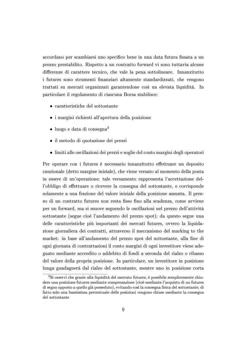 Anteprima della tesi: Mercato e prezzatura delle materie prime, Pagina 10