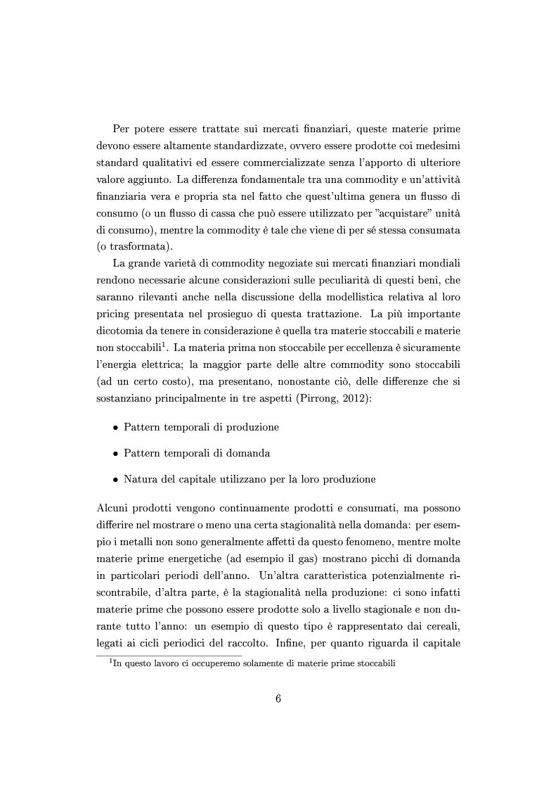 Anteprima della tesi: Mercato e prezzatura delle materie prime, Pagina 7