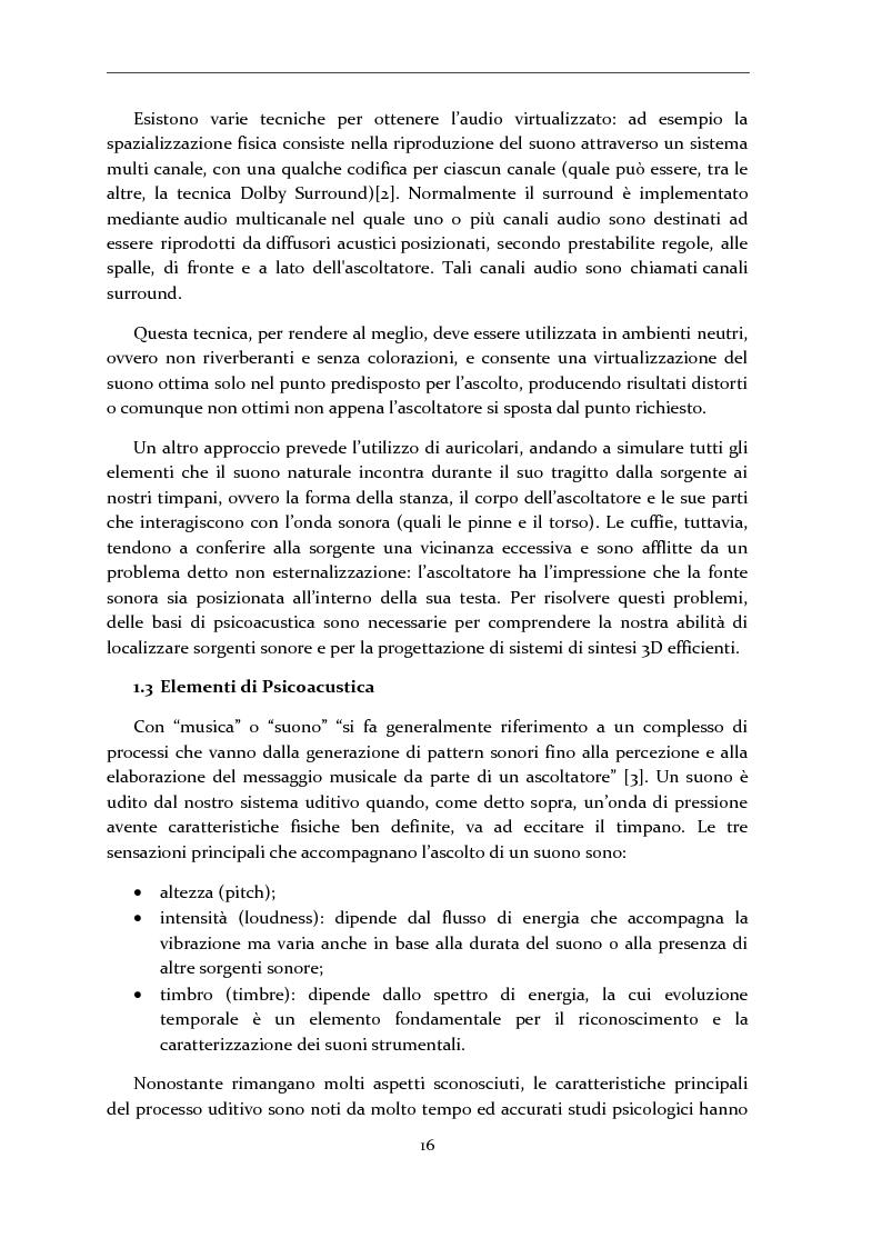 Anteprima della tesi: Gestione di database eterogenei di HRTF per il rendering in tempo reale di audio 3D, Pagina 5