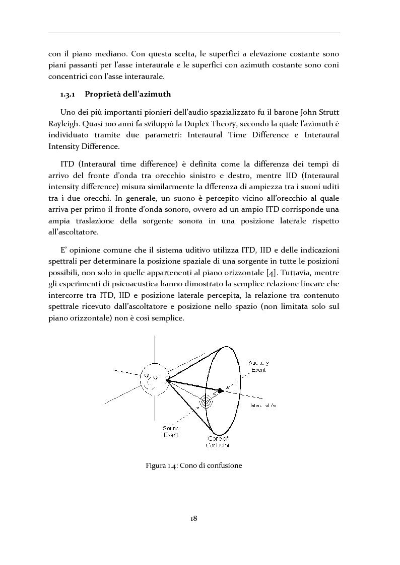 Anteprima della tesi: Gestione di database eterogenei di HRTF per il rendering in tempo reale di audio 3D, Pagina 7