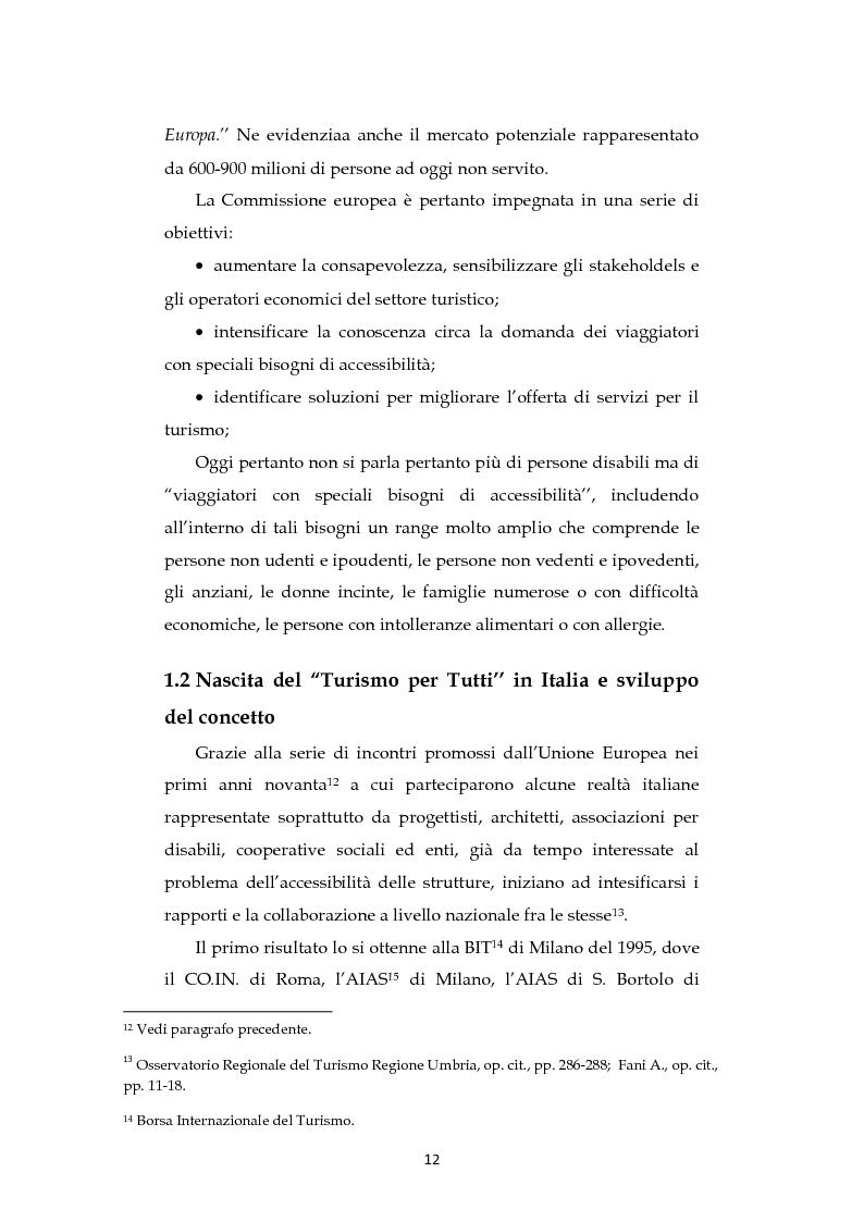 Anteprima della tesi: Analisi dell'evoluzione del concetto di accessibilità nel turismo. L'esperienza nel Veneto e il caso VEASYT s.r.l, Pagina 10