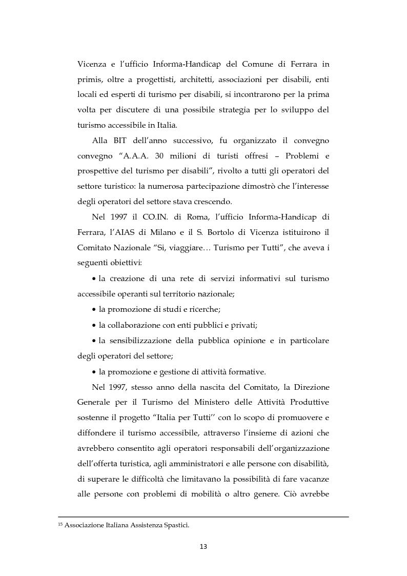 Anteprima della tesi: Analisi dell'evoluzione del concetto di accessibilità nel turismo. L'esperienza nel Veneto e il caso VEASYT s.r.l, Pagina 11
