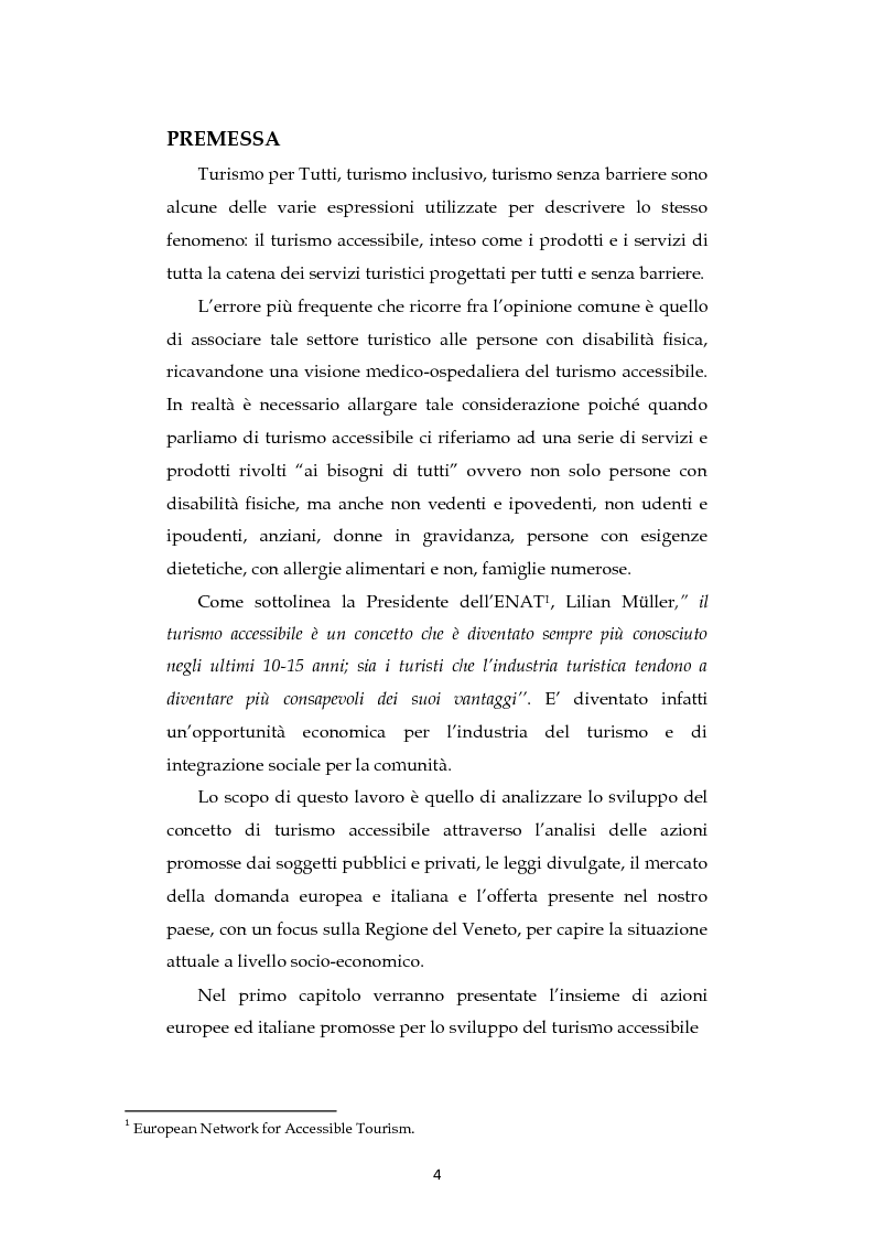 Analisi dell'evoluzione del concetto di accessibilit� nel turismo. L'esperienza nel Veneto e il caso VEASYT s.r.l - Tesi...