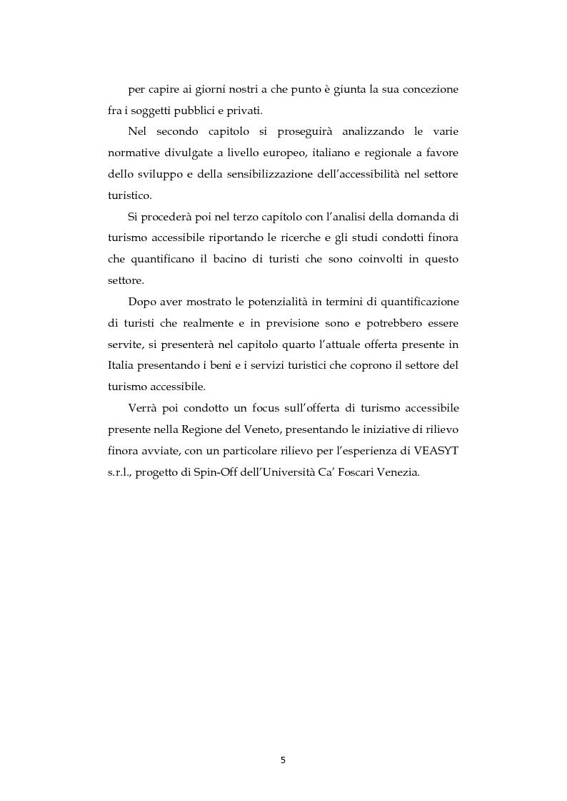 Anteprima della tesi: Analisi dell'evoluzione del concetto di accessibilità nel turismo. L'esperienza nel Veneto e il caso VEASYT s.r.l, Pagina 3