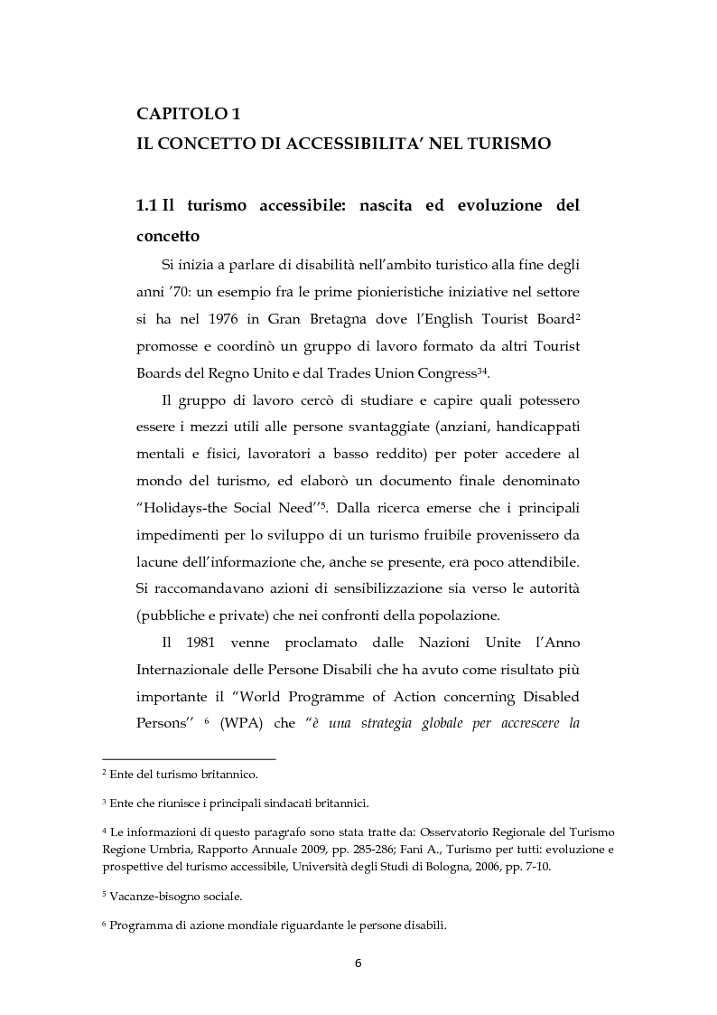 Anteprima della tesi: Analisi dell'evoluzione del concetto di accessibilità nel turismo. L'esperienza nel Veneto e il caso VEASYT s.r.l, Pagina 4