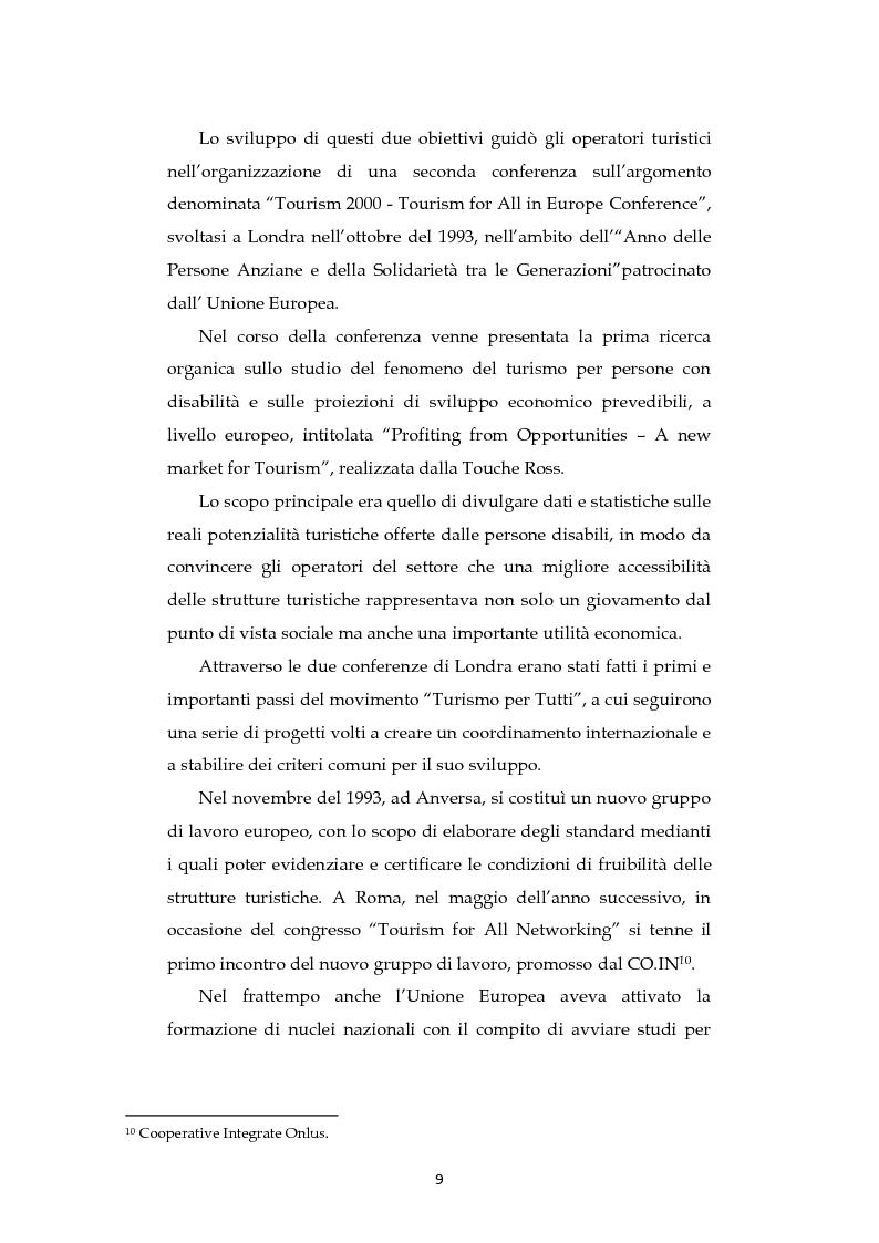 Anteprima della tesi: Analisi dell'evoluzione del concetto di accessibilità nel turismo. L'esperienza nel Veneto e il caso VEASYT s.r.l, Pagina 7