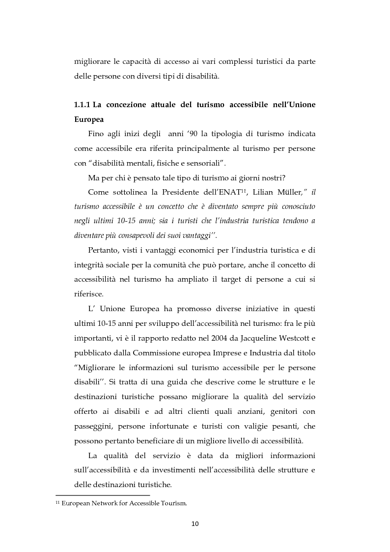 Anteprima della tesi: Analisi dell'evoluzione del concetto di accessibilità nel turismo. L'esperienza nel Veneto e il caso VEASYT s.r.l, Pagina 8