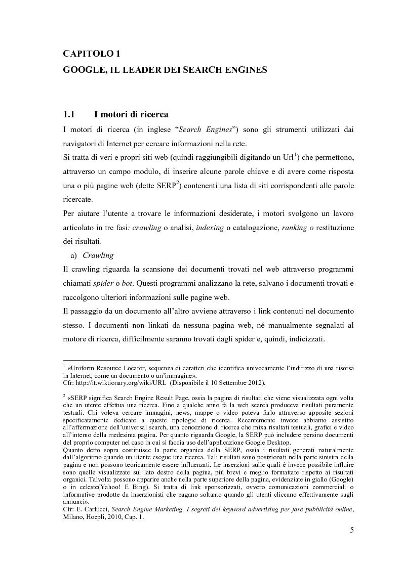 Anteprima della tesi: Google Adwords, un metodo efficace di fare pubblicità, Pagina 3