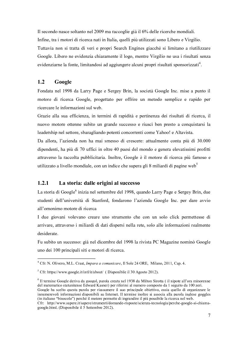 Anteprima della tesi: Google Adwords, un metodo efficace di fare pubblicità, Pagina 5