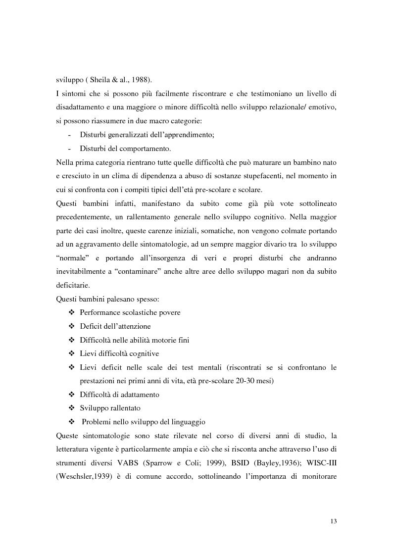 Anteprima della tesi: Figli di madri tossicodipendenti: un percorso già segnato? Fattori di rischio e di protezione dei bambini in età scolare, Pagina 11