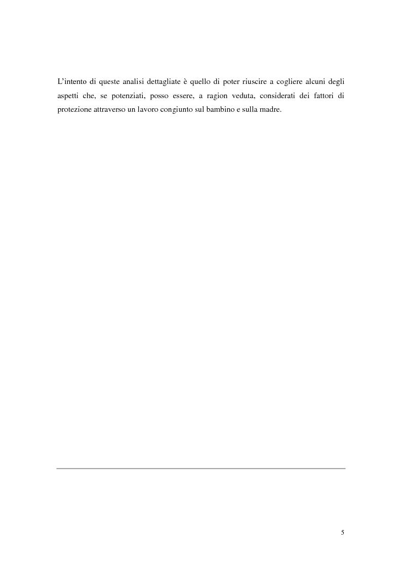 Anteprima della tesi: Figli di madri tossicodipendenti: un percorso già segnato? Fattori di rischio e di protezione dei bambini in età scolare, Pagina 3