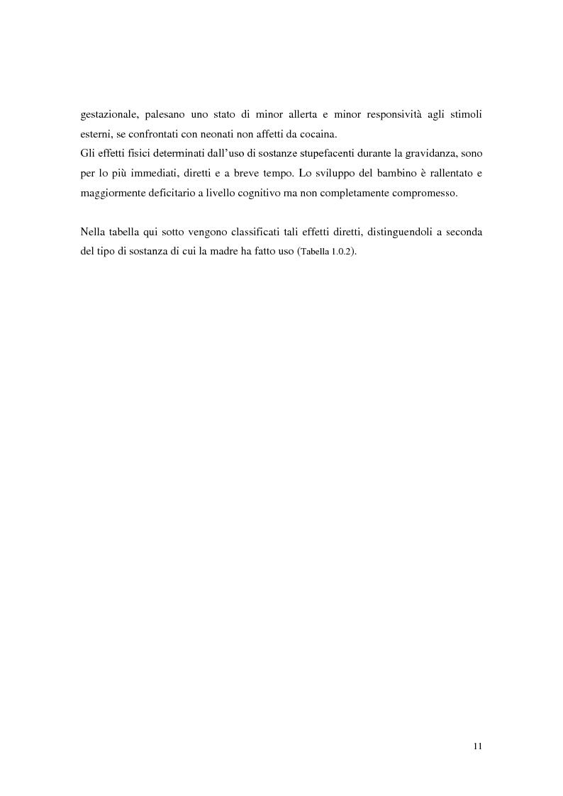 Anteprima della tesi: Figli di madri tossicodipendenti: un percorso già segnato? Fattori di rischio e di protezione dei bambini in età scolare, Pagina 9