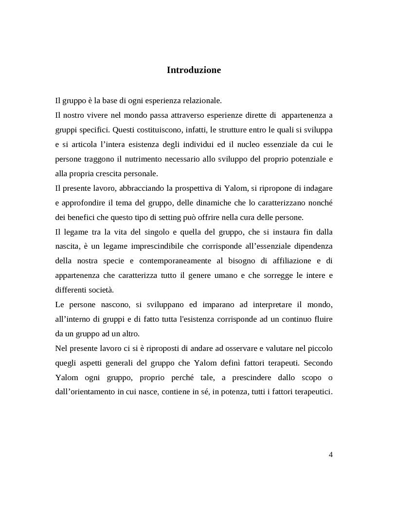 Anteprima della tesi: Il gruppo. Fattori terapeutici ed affettivita. Un'esperienza tra pazienti bipolari, Pagina 2