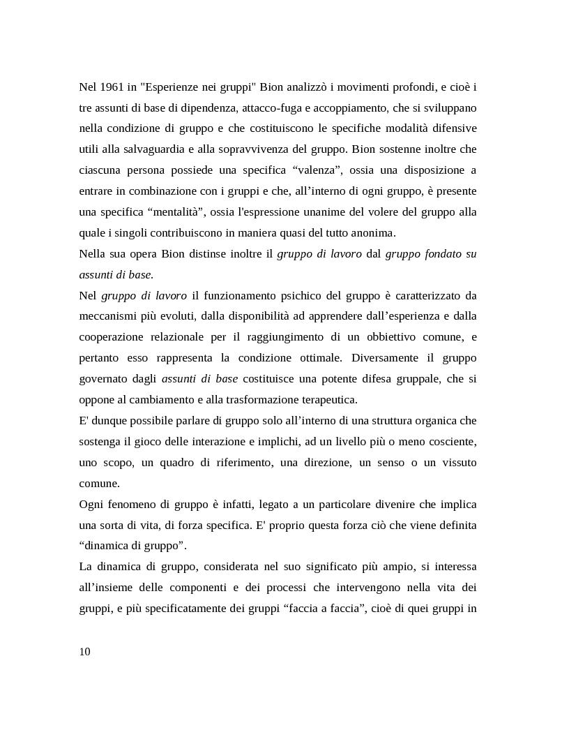 Anteprima della tesi: Il gruppo. Fattori terapeutici ed affettivita. Un'esperienza tra pazienti bipolari, Pagina 7